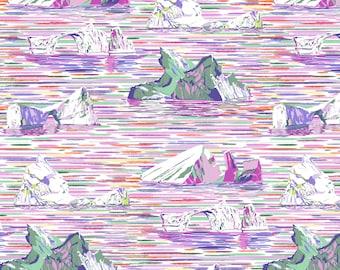 Free Spirit Migration Iceberg Lavender 018 designed by Lorraine Turner - Sold in 1/2 yard increments