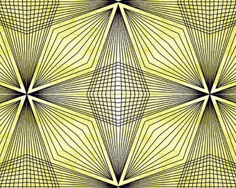 1/2 Yard Andover Prism in Celery designed by Giucy Giuce.  9576V