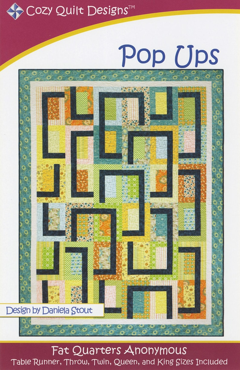 POPPED ART QUILT QUILTING PATTERN From Cozy Quilt Designs NEW