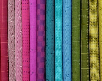 Fabric Bundle Andover Entwine designed by Giucy Giuce.  Woven Yarn Dye Dobby fabric - 19 colors