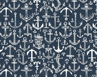 1/2 Yard Dear Stella Bootylicious, Anchors Aweigh 1766