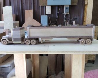 Handcrafted Wood Grain hauler