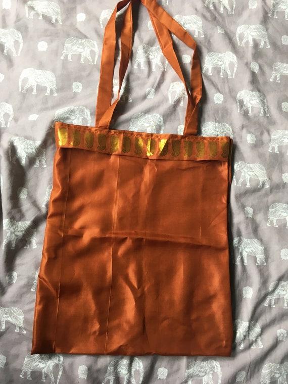 96ab85966cf8 Tote Bag Upcycled Recycled Indian Sari Material.