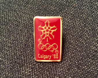 Vintage Olympic Pin Calgary 1988 Lapel Pin Olympic Hat Pin Collectible Olympic Pin