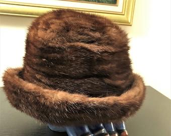 Vintage Dior Mink Hat Genuine Mink Hat Christian Dior Bucket Hat 93b9abd62eed