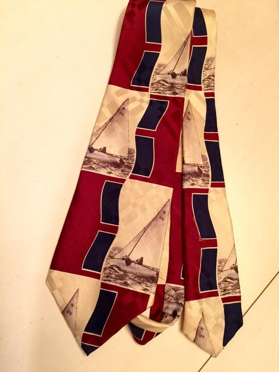 Ralph Lauren Polo Polo de voiliers cravate cravate de soie   Etsy 7ada1fafe2e