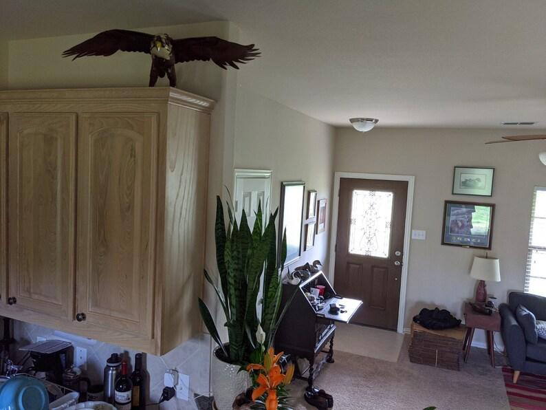 Office Decor American Eagle Yard Art Wall Decor Birdwatcher Gifts Metal Eagle Home Decor Bald Eagle Art Bald Eagle Statue Eagle Art