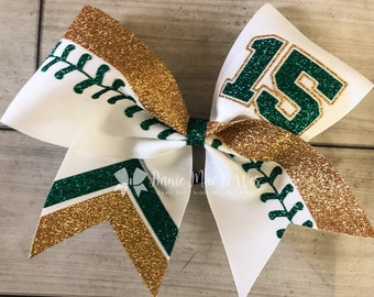 Hunter Green Monogrammed Hair Bow with Gold Initial by Cheryl/'s Bowtique personalized monogram clothing initial school Christmas