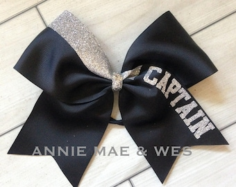 20239826bd7f Personalized Cheer Bow - Name Cheer Bows - Personalized Cheer Bows - Black Cheer  Bow - Black and silver cheer bow