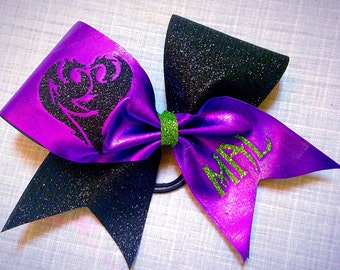 Cheer bow - inspired by Mal from Descendants