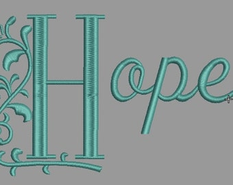 Hope-Machine Embroidery Design