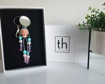 Hope - Button and Beads Trendy Bag Charm