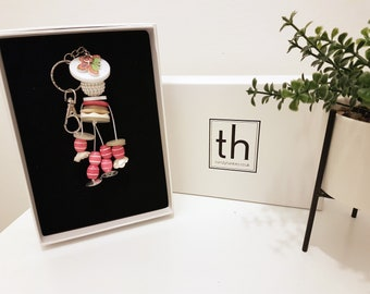 Tabitha - Button and Beads Trendy Bag Charm