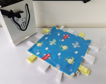 Planes & Helicopters - Plush Trendy Taggie Blanket