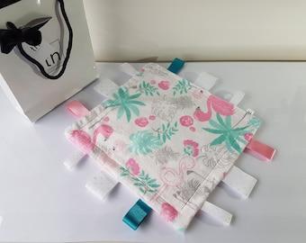 Flamingo Blush - Plush Trendy Taggie Blanket