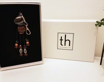 Charity - Button and Beads Trendy Bag Charm