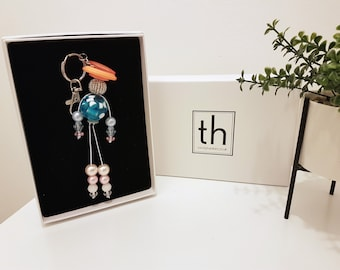 Philippa - Button and Beads Trendy Bag Charm