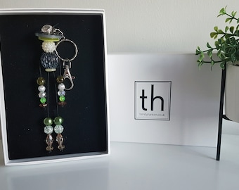 Mildred - Button and Beads Trendy Bag Charm