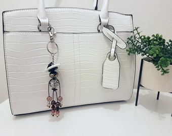 Marguerite - Button and Beads Trendy Bag Charm