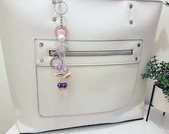 Margot - Button and Beads Trendy Bag Charm