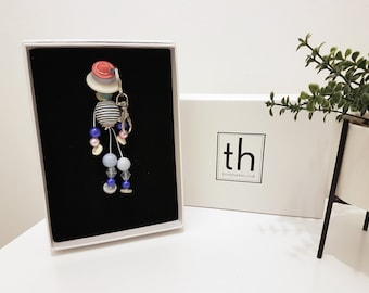 Martha - Button and Beads Trendy Bag Charm