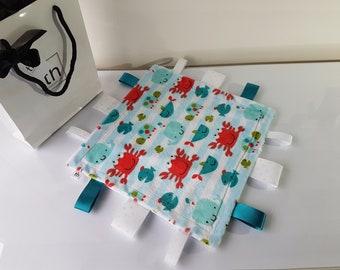 The Sea Creatures -  Plush Trendy Taggie Blanket