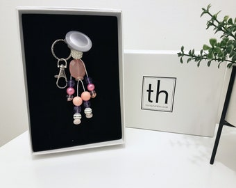 Mercy - Button and Beads Trendy Bag Charm