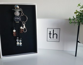 Patience - Button and Beads Trendy Bag Charm