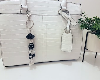 Hora - Button and Beads Trendy Bag Charm