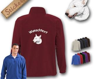 Kuschelige Fleecejacke Jacke Stickerei Hund BULL TERRIER Tolle Geschenkidee