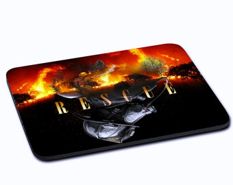 """MOUSEPAD printed with """"Rescue"""""""