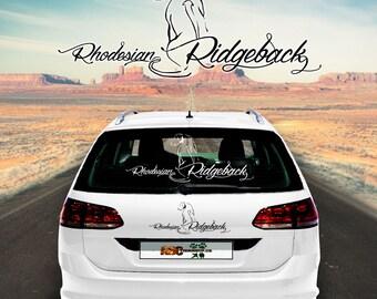 Car Sticker Dog Rhodesian Ridgeback 2