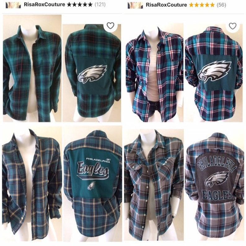 reputable site 02c1f b0d40 Philadelphia Eagles Custom Flannel Shirt