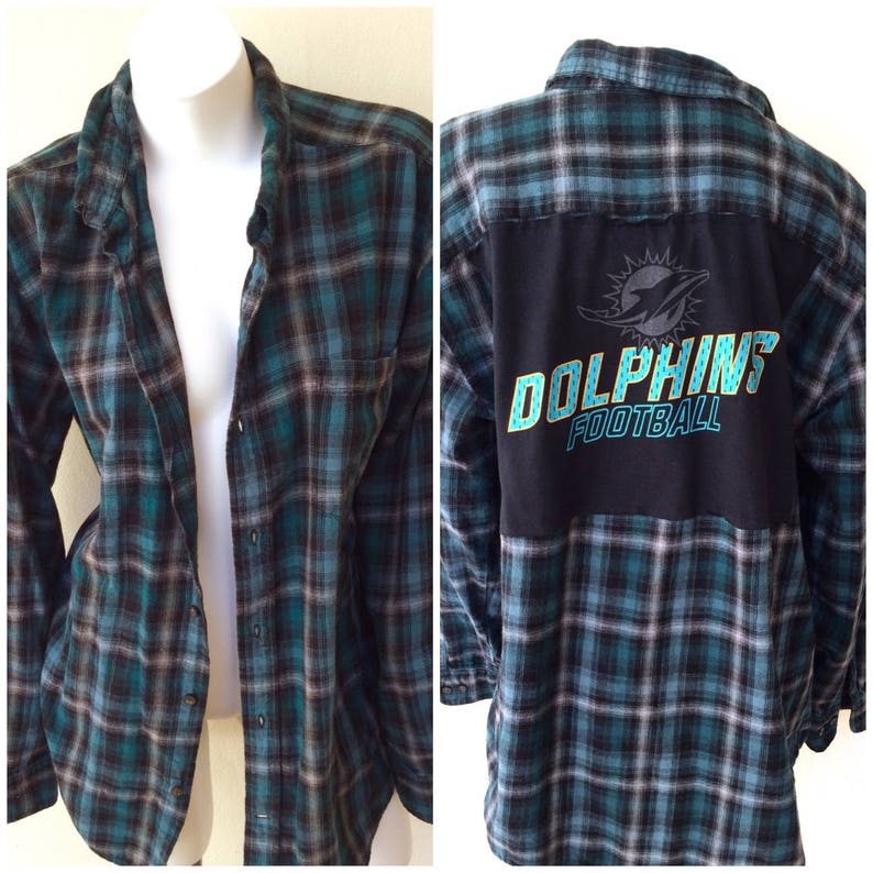 miami dolphins flannel shirt