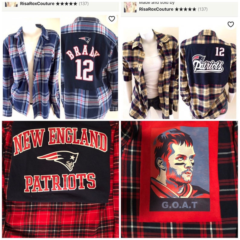 5be0dce5941 Unisex Tom Brady New England Patriots Flannel Shirt