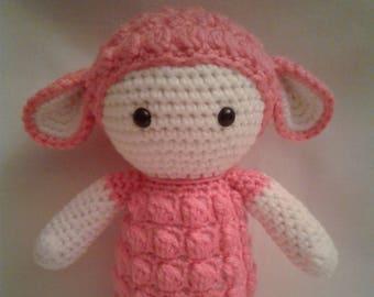 LUPA the Lamb = Crochet Amigurumi - Handmade Crochet Amigurumi - Lamb Sheep