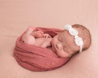 Fall floral headband set Newborn photo prop. Newborn twin set Newborn headband Headband set