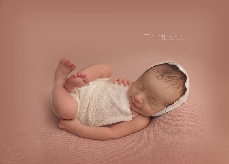 8a79fbcc13f Maggie Newborn Eyelet Lace Romper Newborn Photography