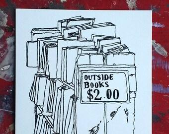 Postcard: Outside Books