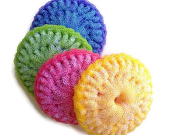 Large Crochet Scrubbies - Choose Colors and 2 Through 6 - Pot Scrubbers