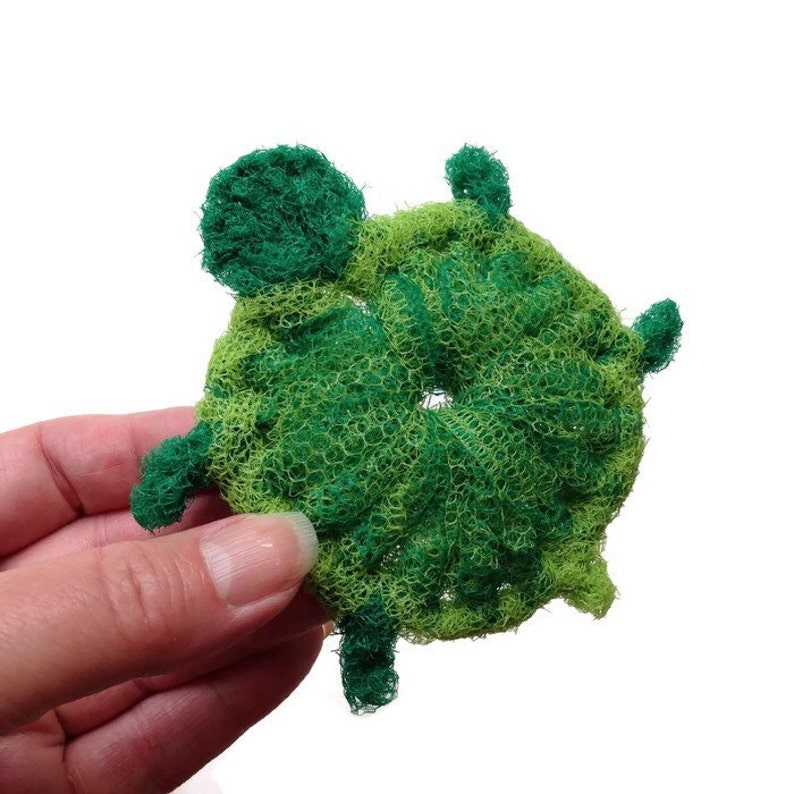 Turtle Scrubbies Housewarming Gift Gift for Him or Her 3 to 6 Nylon Netting Baby Turtle Dish Scrubbies Double-Layered and Super Durable
