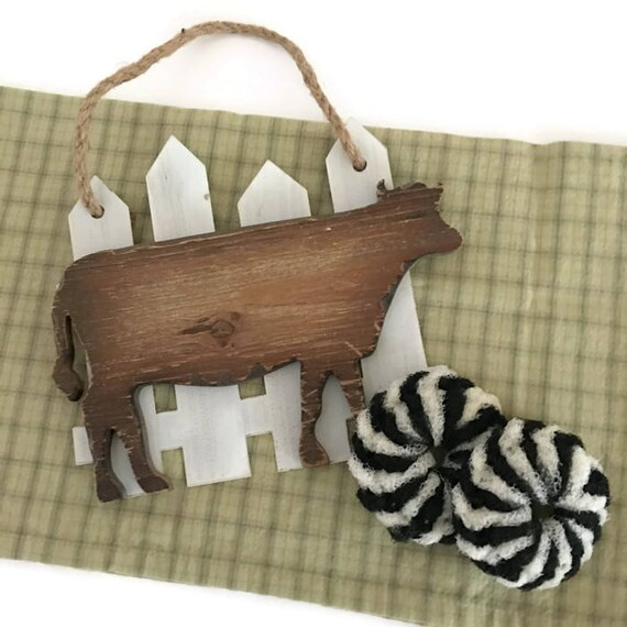 Holstein cow painting on reclaimed wood | Cow painting ... |Holstein Cow Decorations
