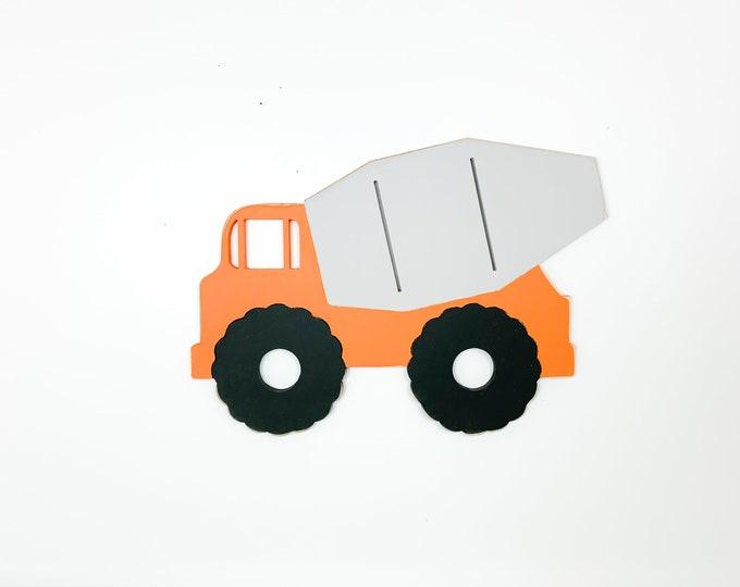 Wood Cement Mixer Truck sign, kids room, baby nursery, toddler bedroom, boys room decor, playroom wall art kids room , construction birthday
