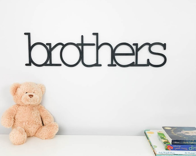 brothers wood sign,  sibling shared room sign,  big brother sign,  toddler room sign,  nursery wall decor,  twin nursery sign, playroom sign