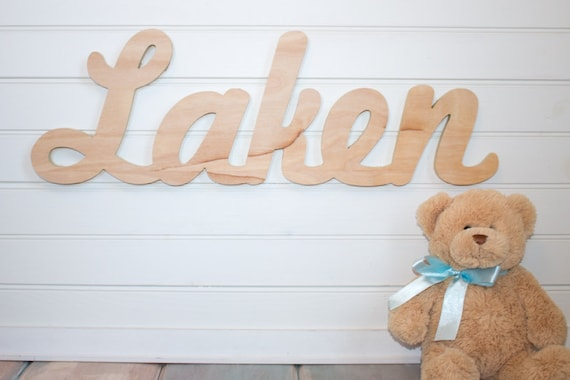 Baby Name Plaque nursery name sign DIY Large Unpainted | Etsy