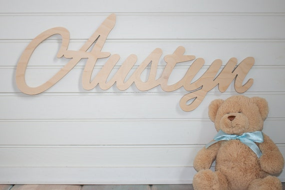 wooden name sign DIY Name Large Unpainted Personalized | Etsy