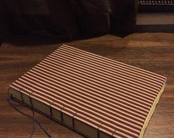 Red stripe sketch book