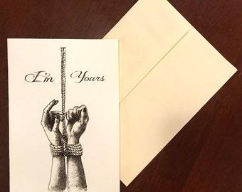 blank inside AnniversaryValentines Kinky Card