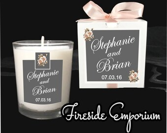 Wedding Favor Personalized Wedding Monogrammed Wedding Wedding Candle Favor Wedding Guest Gift & Wedding guest gift   Etsy