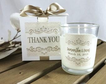 Wedding Favor Personalized Wedding Thank You Favors Wedding Candle Favor Wedding Guest Gift Anniversary Favor & Wedding guest gift | Etsy